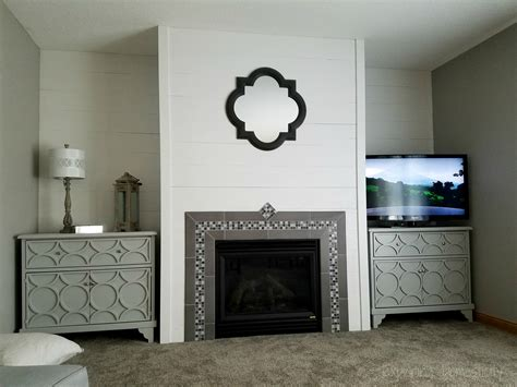 DIY Faux Shiplap Fireplace Wall ? Exploring Domesticity