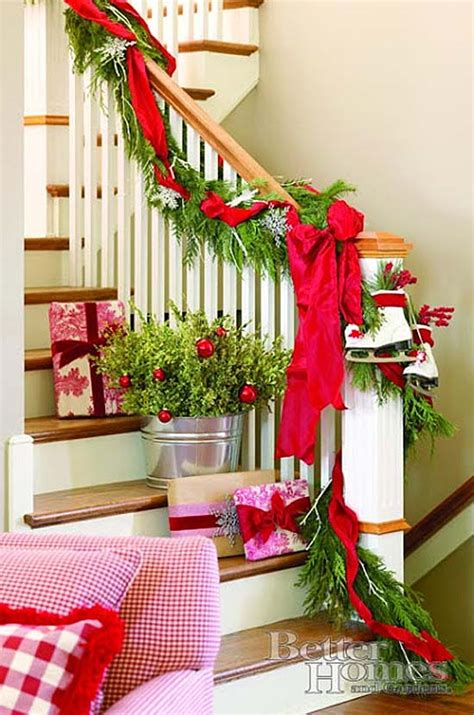 christmas garland on banister 12 beautiful christmas banisters