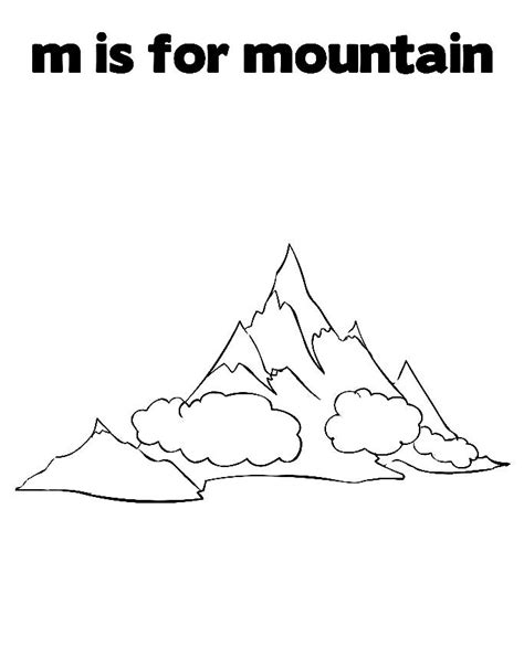 Printable Mountain Coloring Pages Online Printable Mountain Coloring Page 2