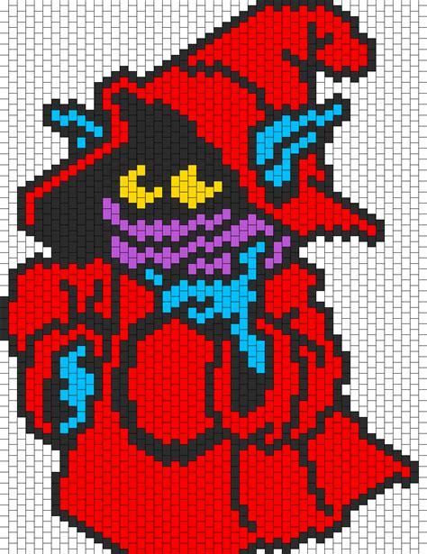 bead characters orko from heman bead pattern peyote bead patterns