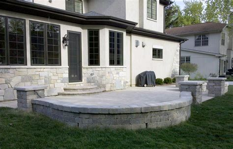 patios with walls bluestone patio with sitting walls