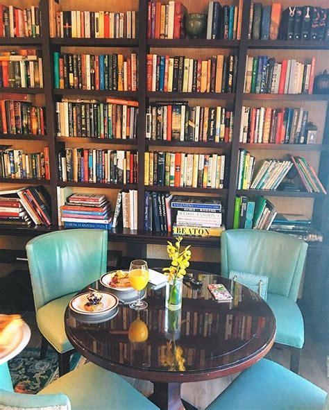 breakfast book nook atritzcarlton cozy coffee shop