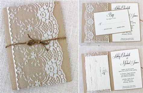 Hochzeitseinladung Jute by Vintag Spitze Jute Einlandungskarten Hochzeit 2014 Jute