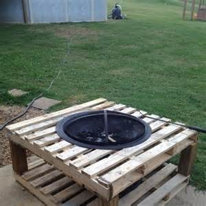 pallet fire pit pallets fire table home and garden pinterest