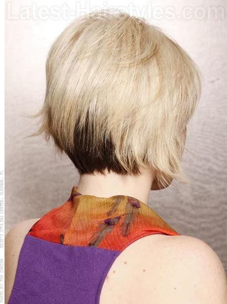 short stacked bob hairstyles front back short haircuts front and back view