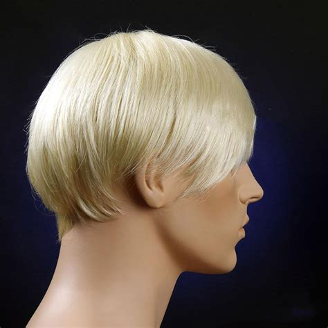Popular Man Blonde Wig Buy Cheap Man Blonde Wig Lots From   mens white wigs colorful cheap wigs