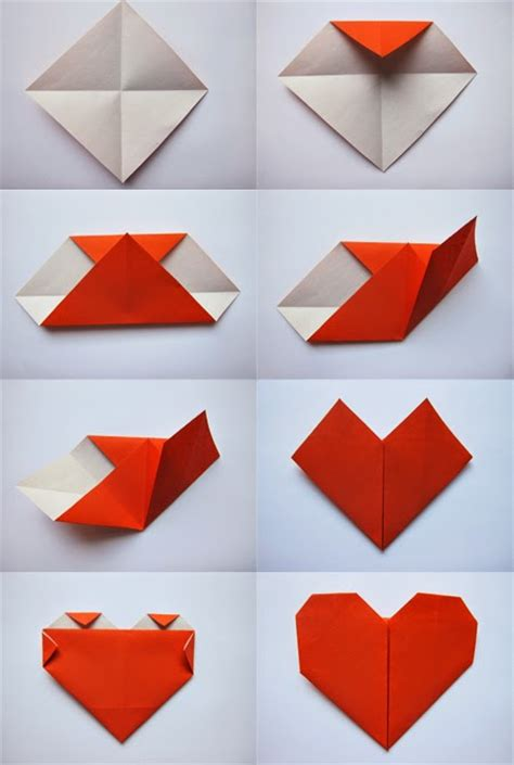 How To Make A Paper Hart - easy origami for origami and