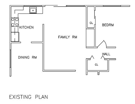 floor plans for existing homes smart new kitchen kfd02 6232 the house designers