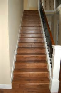 Wood On Stairs by Solid Hardwood Stairs With Iron Works Metal Handrails