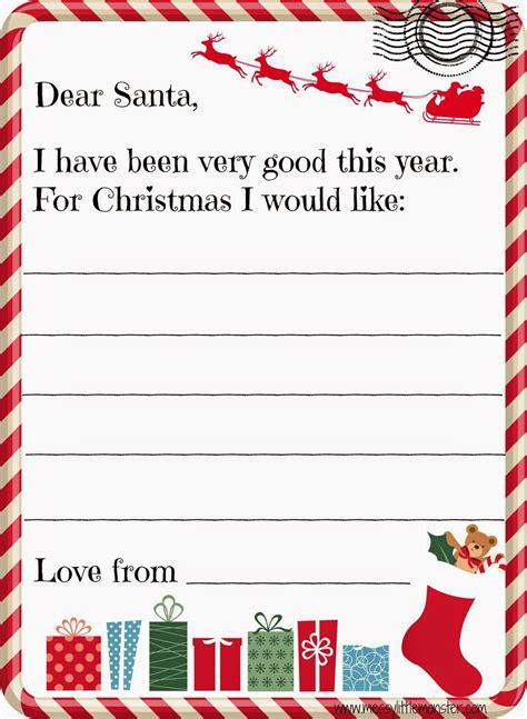 printable santa letter kids messy monster