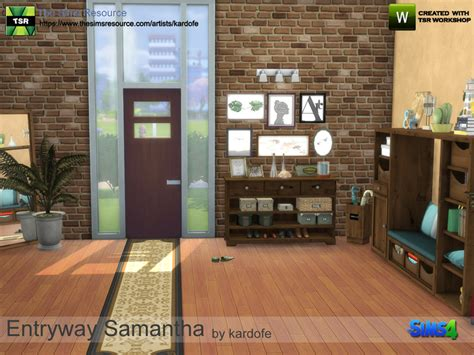 Sims 4 Foyer by Kardofe Entryway The Sims 4 Simsdom