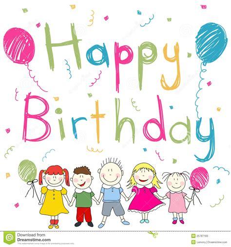 imagenes de cumpleaños jovenes tarjeta del feliz cumplea 241 os ilustraci 243 n del vector