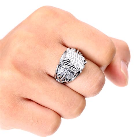 high quality jewelry ᑐms jewels anime anime attack on titan rings