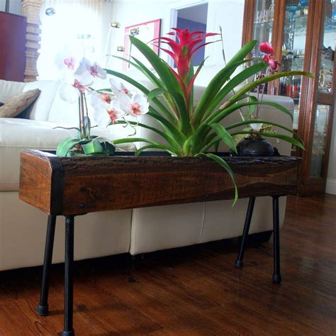 urban rustic industrial planter box table unfinished