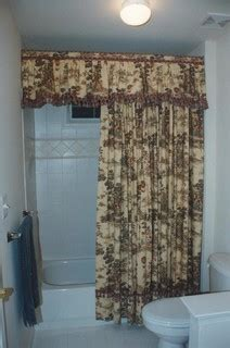 cottage charm french country toile valance  shower