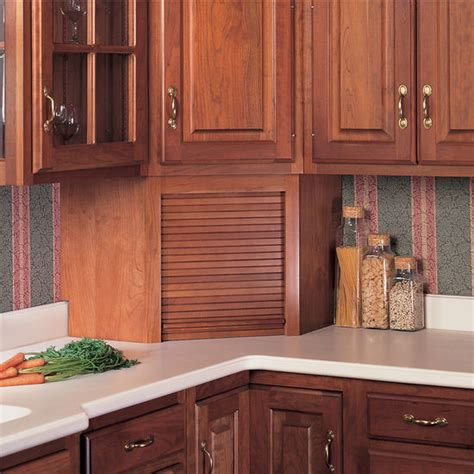 garage kitchen cabinets appliance garages tambour corner wood kitchen appliance