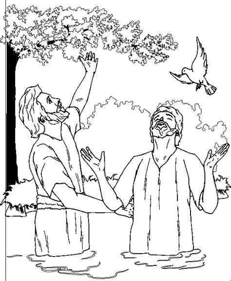 coloring pages jesus baptism baptism coloring pages coloring home