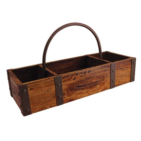 Table Caddy by Teton Grill Co Wood Table Caddy 229205 Grills