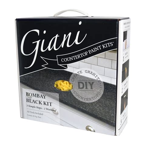 Giani Bombay Black Countertop Kit shop giani countertop transformations bombay black high gloss countertop resurfacing kit actual