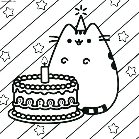 Coloring Pages To Print by Pusheen Coloring Pages Pdf Free Coloring Pages At