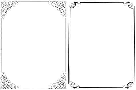 200 Free Vintage Ornaments Frames And Borders Fab N Free Microsoft Word Frame Templates
