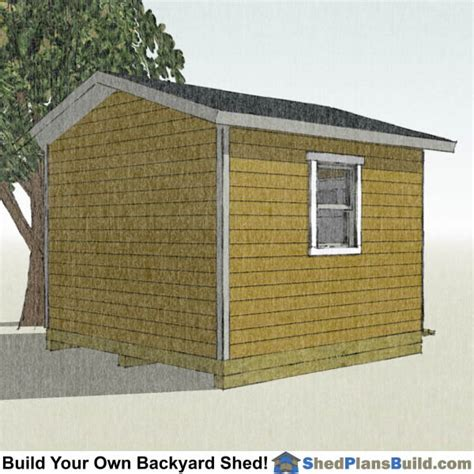 12x12 Garage Door Storage Shed Plans 12x12 Overhead Door