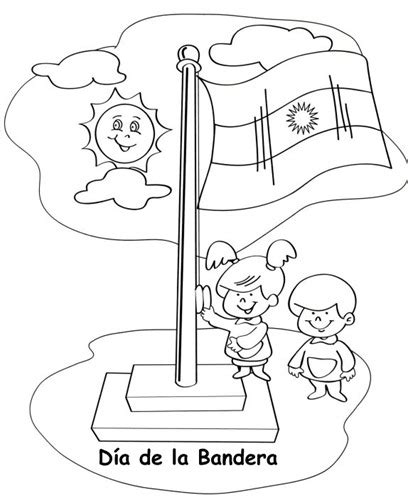 dia de la bandera argentina dibujos para colorear del dia de la bandera argentina