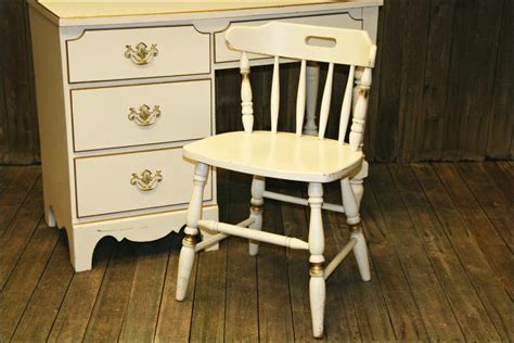 french country desk chair french provincial desk chair wood white gold vtg