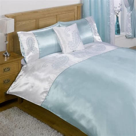Single Bedding And Curtain Sets Sakkara Single Bed And Curtain Set Duck Egg Blue From Litecraft