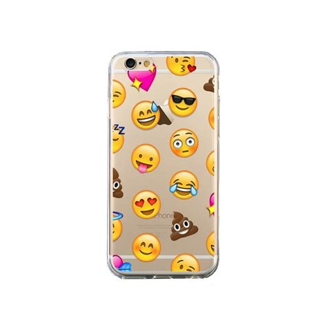 coque emoticone emoji transparente pour iphone 6 et 6s laetitia