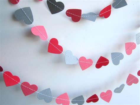 valentines garland valentines garland hearts garland paper garland 6