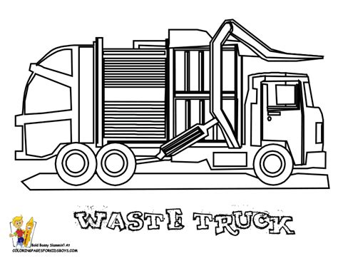 coloring page of trash truck grimy garbage truck coloring page garbage trucks free