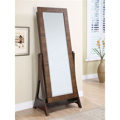 standing mirror with jewelry cabinet