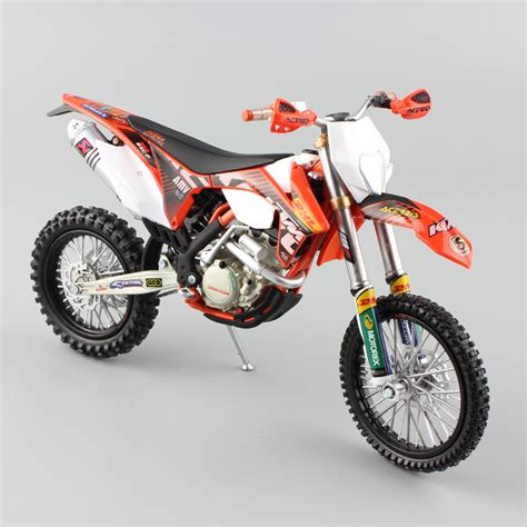 Miniatur Diecast Replika Motor Ktm 450 Sx R 118 Welly 1 12 scale supercross ktm 350 exc f bull racing motorcycle diecast metal model motocross
