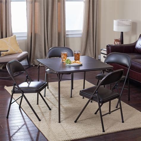 card table and chairs meco sudden comfort deluxe padded chair and back 5