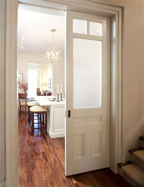 Pair Of Pocket Doors With Windows Master Closets Toilet Pocket Interior Doors