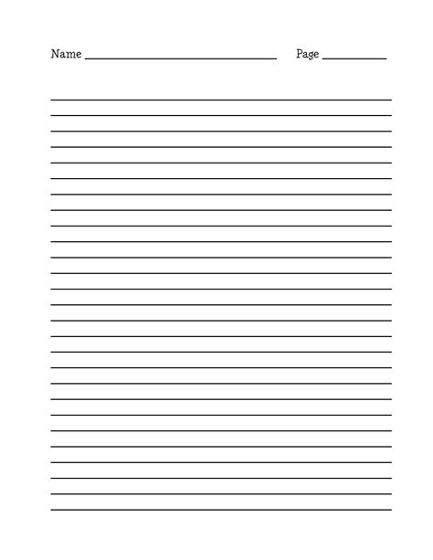 name writing template blank editable lined paper template word pdf lined paper