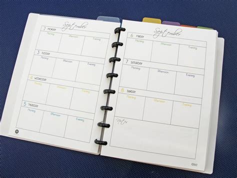 printable weekly planner septdec 2013 for staples arc by