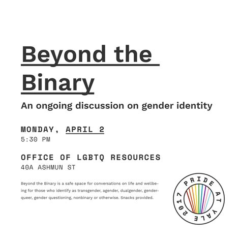 nonbinary gender identities history culture resources books pride yale 2017 office of lgbtq resources