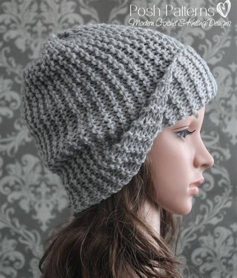 slouchy hat knitting pattern for beginners knitting pattern beginner knit slouchy hat pattern