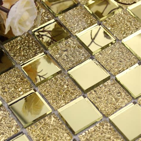 gold glass tile backsplash wholesale mirror tile backsplash gold vitreous glass