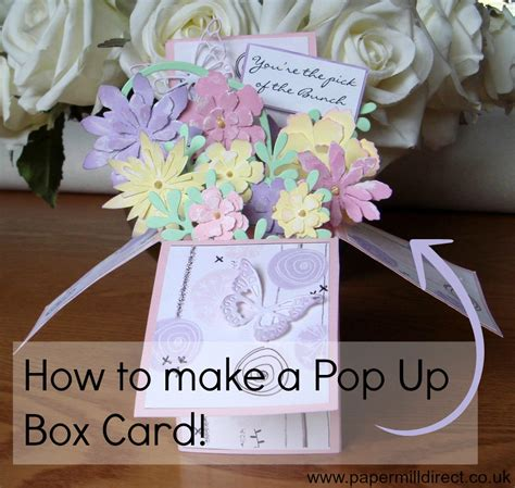 make a popup card card supplies papermill direct