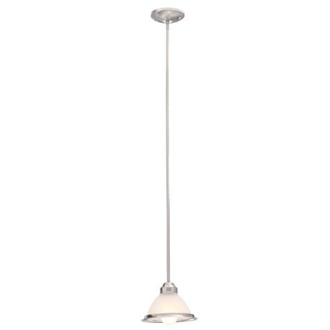 Commercial Pendant Light Commercial Electric Halophane 1 Light Brushed Nickel Mini Pendant Ghr8991al Bn The Home Depot