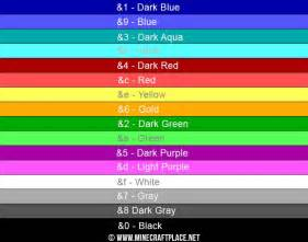 minecraft colors ᐅ minecraft color codes for chat signs motd and more