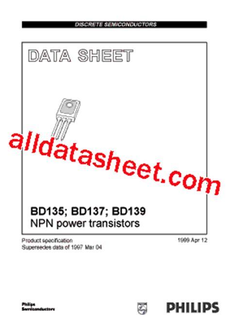 datasheet transistor npn bd137 bd137 datasheet pdf nxp semiconductors