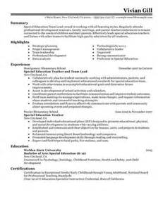 Resume Format For Team Leader by Sle Early Childhood Lead Resume