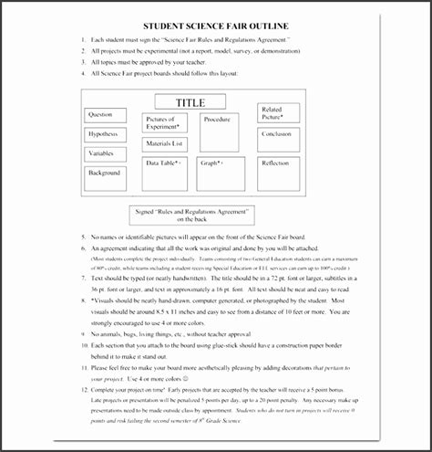 9 Academic Project Outline Template Sletemplatess Sletemplatess Science Fair Project Templates