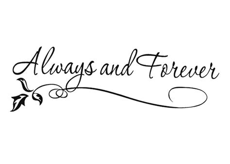 always and forever tattoo designs always and forever wedding house vinyl diy wall