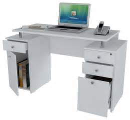 laricina white computer desk with file drawer