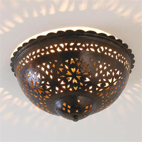 moroccan ceiling light moroccan scalloped and punched metal semiflush ceiling
